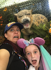 Oh Noes (evaxebra) Tags: oc orange county fair ocfair 2019 ewa luna hat ears minnie mickey leopard panther scary scared faces