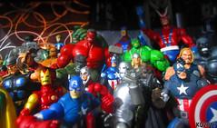 Original Avengers & The Ultimates + late 2000's Cap & Thor (THE AMAZING KIKEMAN) Tags: marvel heroes women toy biz characters superheroes action figures comics