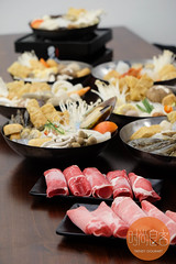 猪肉片 & 牛肉片 (trendygourmet) Tags: steamboat hotpot taiwan taiwanese meat set sauce sripetaling kl kualalumpur