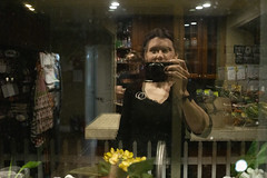 Day 4543 (evaxebra) Tags: wh wah reflection double pane ryan watching creepy selfie kitchen