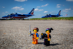 Great show, guys! (Ballou34) Tags: 2019 7dmark2 7dmarkii 7d2 7dii afol ballou34 canon canon7dmarkii canon7dii eos eos7dmarkii eos7d2 eos7dii flickr lego legographer legography minifigures photography stuckinplastic toy toyphotography toys stuck in plastic airplane airshow fighter jet camera
