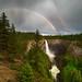 Helmcken Falls with Rainbow, Wells Gray Park, BC (Rick McCutcheon) Tags: