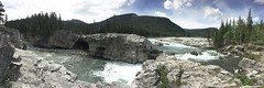 Elbow Falls .... (Mr. Happy Face - Peace :)) Tags: nature foothills alberta summer canada cans2s hiking cloud sun sky elbowriver mountain vista pano landscape scenery nwn
