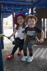 Ash Day 937 (evaxebra) Tags: siblings ash luna playground play ground hats cute adorable tagyourrags beach