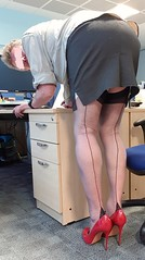 Ah ther you are, never heard you cum in, would you like a helping hand with that? (ursulaballing) Tags: cd tv tranny transvestite crossdresser nylons stockings stockingtops stilettos heels highheels pumps cfm sissy seams garterbelt suspenders shortskirt