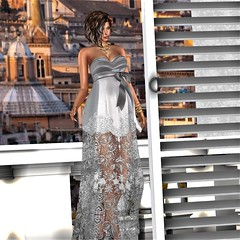 Special dinner tonight in Rome. (parisevermore) Tags: designershowcase jumo kuni genusproject belleza maitreya slink secondlifeevents fashion gowns formals