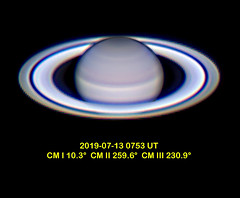 Saturn, 2019-07-13 0753 UT, from Long Beach, CA (astrothad) Tags: saturn planet solarsystem space cosmos astronomy rings gasgiant