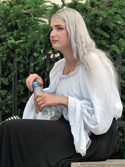 Blonde girl with nose piercing (pivapao's citylife flavors) Tags: paris france trocadero beauties girl portrait