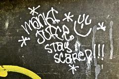 Monki Juice, San Francisco, CA (Robby Virus) Tags: sanfrancisco california sf ca monki juice stay scared graffiti tag