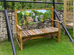 A Bench With A View (Glass Horse 2017) Tags: cleveland saltburnbysea valleygardens bench wooden benchmonday painted scene saltburnviews handmade upcycled artwork publicart renovatedgarden