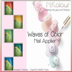 Waves of Color Ad (NKolour) Tags: newness nailappliers slink vista senseevent omega maitreya