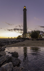 Sunset light (www.ownwayphotography.com) Tags: maspalomas gran canaria lighthouse spain beach sunset canary faro sea water beautiful landscape ocean scenic evening blue island sky night travel tourism dark europe landmark nature light holiday orange famous outdoors