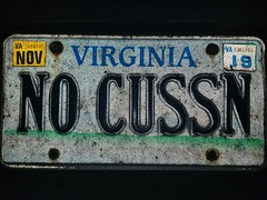 No Cussn' (No Cussing/Cursing) (Gamma Man) Tags: licenseplate plate va virginia elichristman elijahchristman elijameschristman elijahjameschristman elichristmanrva elijahchristmanrva elichristmanrichmondva elichristmanrichmondvirginia elijahchristmanrichmondva elijahchristmanrichmondvirginia vanitytag numberplate wankertag customnumberplate vanityplate