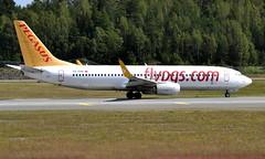 Pegasus TC-CPE, OSL ENGM Gardermoen (Inger Bjørndal Foss) Tags: tccpe pegasus boeing 737 osl engm gardermoen