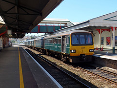 143611 & 150244 Paignton (1) (Marky7890) Tags: gwr 143611 150244 class143 class150 pacer sprinter 2f29 paignton railway devon rivieraline train