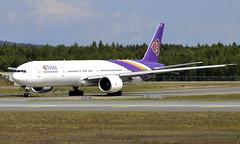 Thai HS-TKL, OSL ENGM Gardermoen (Inger Bjørndal Foss) Tags: hstkl thai boeing 777 osl engm gardermoen
