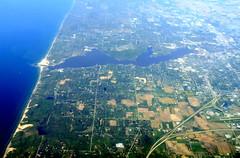 Shoreline (oobwoodman) Tags: aerial aerien luftaufnahme luftphoto luftbild zrhord michigan lakemichigan holland lakemacatawa