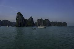 ha long bay (Greg M Rohan) Tags: nikon nikkor 2017 d7200 blue water halongbay asia vietnam sky stone boats boat rocks limestone 水 ベトナム 越南 vịnhhạlong