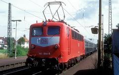 141 044  Oftersheim  03.07.96 (w. + h. brutzer) Tags: oftersheim eisenbahn eisenbahnen train trains deutschland germany railway elok eloks lokomotive locomotive zug db e41 141 webru analog nikon albumhubertboob