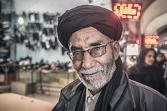 Proud of my Culture (Roberto Pazzi Photography) Tags: portrait people street eyes travel man iran face asia smile mahan one person culture place photography turban glance glasses closeup indoor nikon