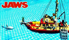 """JAWS - ORCA (""""Orion Pax"""") Tags: lego orca jaws moc boat"""