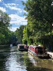 Islington Moorings (marc.barrot) Tags: shotoniphone landscape narrowboat trees canal uk n1 london islington theangel regent'scanal islingtonvisitorsmoorings