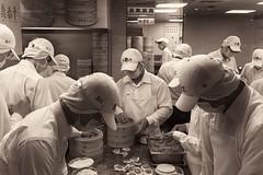 Taipei Dumpling Makers (alex in bkny) Tags: taipei taipei101 taiwan sepia dumpling makers food kitchen iphone7 iso32 39mm f18 160sec