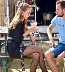 Food festival Trek . (Franc Le Blanc .) Tags: foodfestival trek 2019 shertogenbosch paleiskwartier girl sitting sit drinking