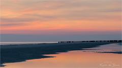 Color Reflection! (karindebruin) Tags: thenetherlands westenschouwen zeeland zonsondergang beach paaltjes reflectie reflection strand sunset water clouds wolken