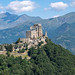 Sacra di San Michele or Saint Michael's Abbey and the alps, Piedmont, Italy. (mario forcherio) Tags: abbey alps ambrogio ancient architecture art benedictine building castle construction europe exterior full gothic historical italian italt italy landmark lights medieval michael michele monastery monument moon mount mountains night old outdoors panorama piemonte pirchiriano religion saint sculpture stone torino travel turin wall