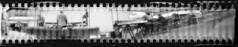 2354 Market Stalls. (Monobod 1) Tags: blackwhite hp5 rodinal expired lensless ilford homemadepinhole epsonv800 35mm pinhole