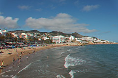 We're going back to Plan A. (Apollyon Sun) Tags: sitges barcelona barcellona spain playa beach seaside water sea outdoor