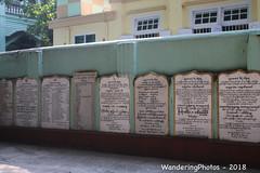 Name & Description Plaques - Wai Yan Bon Thar Monastery - Amarapura Mandalay Myanmar (WanderingPJB) Tags: accumulation flickruploaded myanmar burma mandalay buddhism maharwaiyanbontharmonastery amarapura plaques