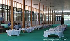 Dining Tables all set for lunch - Mahar Wai Yan Bon Thar Monastery - Amarapura Mandalay Myanmar (WanderingPJB) Tags: accumulation flickruploaded myanmar burma mandalay buddhism maharwaiyanbontharmonastery amarapura diningtables set lunch