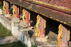 Dragon Carvings - Mahar Wai Yan Bon Thar Monastery - Amarapura Mandalay Myanmar (WanderingPJB) Tags: accumulation flickruploaded myanmar burma mandalay buddhism maharwaiyanbontharmonastery amarapura dragon carving