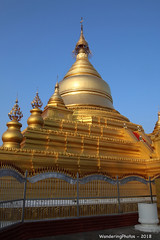 Golden Stupas - Kuthodaw Pagoda Complex - Mandalay Myanmar (WanderingPJB) Tags: accumulation flickruploaded myanmar burma mandalay buddhism kuthodawpagodacomplex stupa pagoda golden