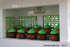 Water Jugs - Mahar Wai Yan Bon Thar Monastery - Amarapura Mandalay Myanmar (WanderingPJB) Tags: accumulation flickruploaded myanmar burma mandalay buddhism maharwaiyanbontharmonastery amarapura water jugs