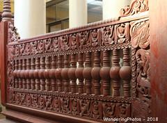Wooden carved pillars - Mahar Wai Yan Bon Thar Monastery - Amarapura Mandalay Myanmar (WanderingPJB) Tags: accumulation flickruploaded myanmar burma mandalay buddhism maharwaiyanbontharmonastery amarapura wood carved pillars decoration