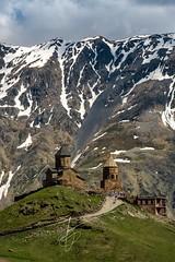 Georgia (fabienb.photo) Tags: tpamountains mountains landscape landscapephotography georgia gergeti monastery telephoto caucasus vertorama