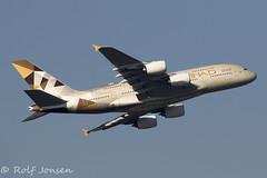 A6-APC Airbus A380 Etihad Heathrow airport EGLL 25.02-19 (rjonsen) Tags: plane airplane aircraft aviation airliner flying flight