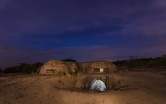 Noche nubosa. (Amparo Hervella) Tags: colmenardelarroyo españa spain bunker noche nocturna cielo nube estrella paisaje lightpaintig árbol largaexposición d7000 nikon nikond7000