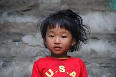 The queen of the village (bingo blue) Tags: nepal childhood children portrait annapurna trek travel aventure beautiful