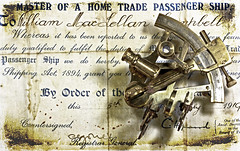 Old Master (Outlaw_Pete) Tags: maritime certificate stilllife sextant naval old antique