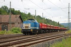 Spitzke: V 100-SP-006 mit Gleisschotterzug in Eschwege West (Helgoland01) Tags: diesellok hessen germany deutschland railway eisenbahn eschwege alstom spitzke lew