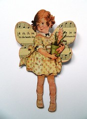 Fairy (JuliaPeculiart) Tags: fairy fairies fae wings butterfly flowerfairies flowers handmade retro vintage paperdoll paper doll papercrafts