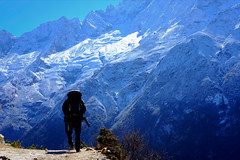 Sherpa (4stringtraveller) Tags: sky trek nirvana adventure india bhutan southasia mountainrange highaltitude sherpa sagarmathanationalpark himalayas snow trekking everestbasecamptrek everest nepal