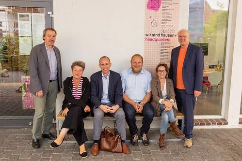 Gespräch zum Projekt Flausen+ beim Theater Wrede in Oldenburg mit Hanna Naber MdL und Ulf Prange MdL.