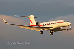 GULFSTREAM 650ER N40D DOW CHEMICAL CO (shanairpic) Tags: bizjet corporatejet executivejet shannon g650 gulfstream650 dowchemical n40d
