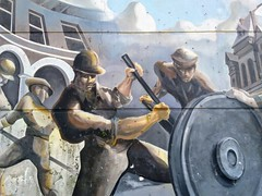 Pullman Workers (edenpictures) Tags: pullmanvisitorcenter chicago illinois pullman mural labor workers