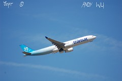 Airbus A330 Air Transat Anniversary (Starkillerspotter) Tags: canada anniversary 30 years blue air transat a330 airbus paris cdg airport departure clouds